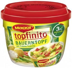 Bote de Maggi Topfinito granja con creme fresca
