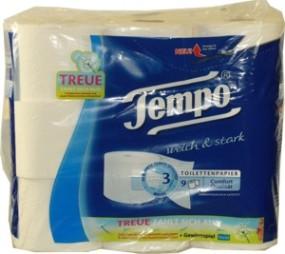 8 rollos de papel higiénico Tempo 3 capas