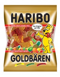 Caramelo de la jalea de Haribo bolsa de 200 g de osos de oro