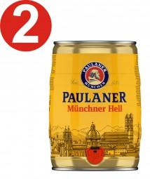 2 x Paulaner Münchner infierno 5 litros de caja partido vol 4,9%