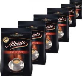 6 x Alberto espresso cápsulas de café 36 por