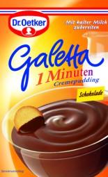 Galetta - 1 minutos crema budín de chocolate