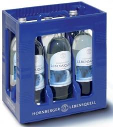 Hornberger Lebensquell Naturelle 6 x 1 litro de todavía estuche original botella de vidrio de agua