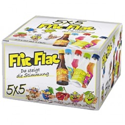 Licor de FLIC FLAC 5 x 5 mezclar 25 x 0, juntos
