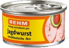 Rehm caza salchicha alemana del norte de Arte 125g lata