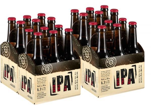 Maisel + Friends 24 x India Pale Ale cerveza artesanal IPA intenso, impresionante puro 6,3% vol. Alq caso original.