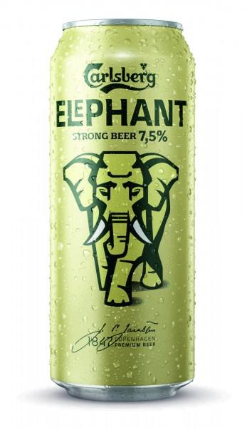 24 latas de 0.5L latas de cerveza Carlsberg Elephant Starkbier 7.5% Vol EINWEG