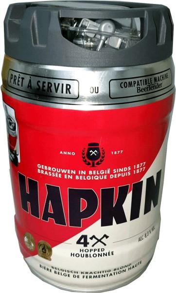 Hapkin Barril de cerveza belga para fiestas Barril de 5 litros con grifo 8,3% vol.