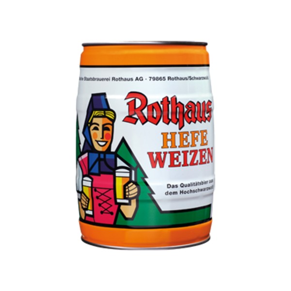 2 x Rothaus Hefeweizen 5 L 5,4% vol. partyfass