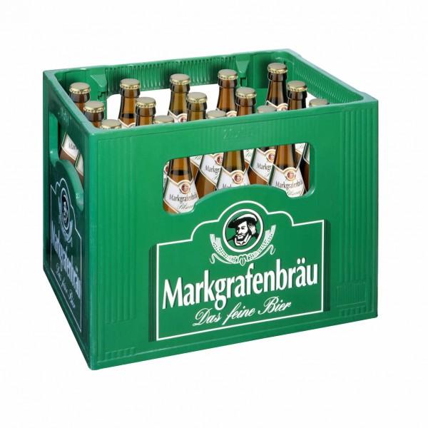 20 x Markgrafenbraeu Pilsener 0.5 L - 4,7% de alcohol Caja original