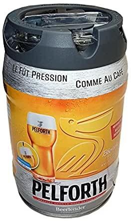 Pelforth cerveza rubia barril fiesta de 5 litros 5.8% vol. con grifo desechable