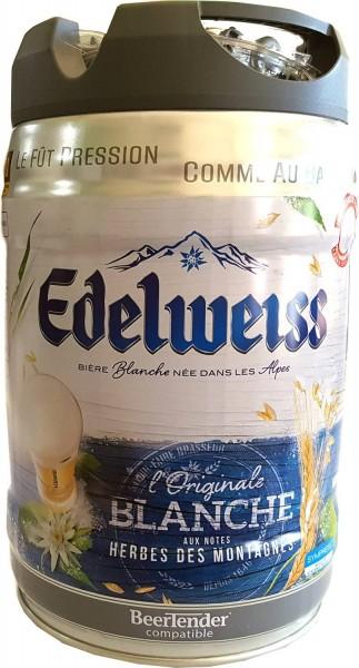 Edelweiss, blanche 5 litre party keg 5% vol cerveza de trigo de los Alpes franceses