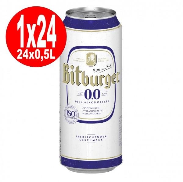 Latas 24x0,5L Bitburger Pilsener 0.0 SIN ALCOHOL DE UNA MANERA