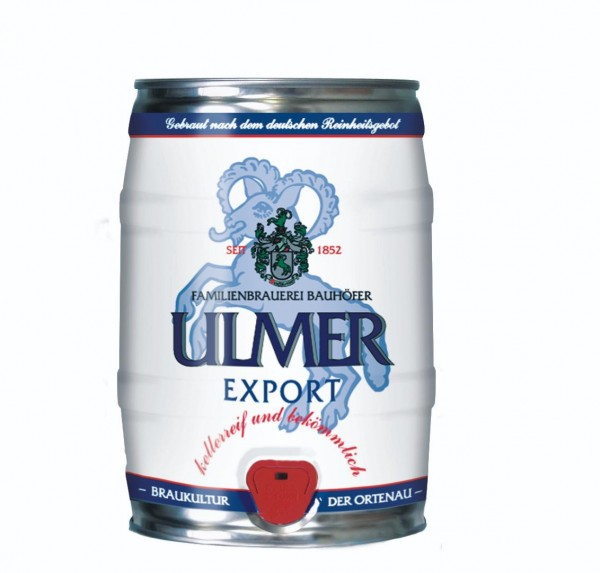 Ulmer Export Party barril 5.0 litros 5.4% vol.