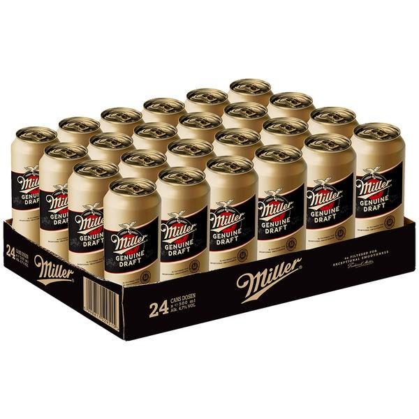 24 x Miller Genuine Draft latas de cerveza USA 0.5 L 4.7% vol. alc ONE WAY