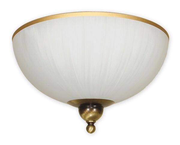 Lemir Flex lámpara de techo de 2 llamas / altmessing acero Sombra: Vidrio