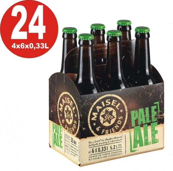Maisel + Friends 24 x Pale Ale Craft Beer 5.2% vol. Alk. Caja original - Una tabla de aroma a lúpulo