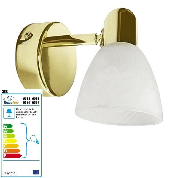 Rabalux punto Soma de color: oro / blanco alabastro Ancho Moderno: 80 Altura: 120