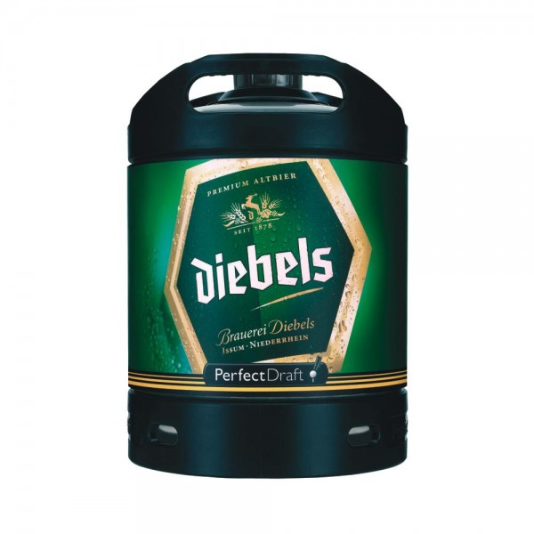 Diebels Alt Perfect Draft cerveza barril 6 litros 4,9% vol.
