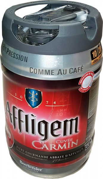 Barril de cerveza Affligem Cuvée Carmine Barril de 5 litros con capacidad para 5,2% vol.