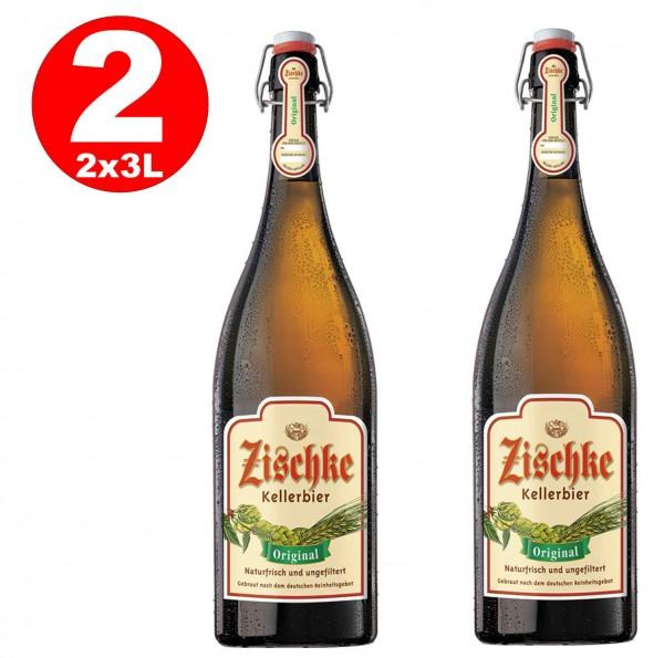 1 x Zischke Kellerbier Original 3 litros! Botella de planchado sin filtro 4,8% vol.