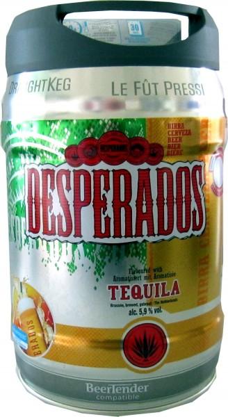 Desperados cerveza con tequila en 5 litros barril incl. Espita