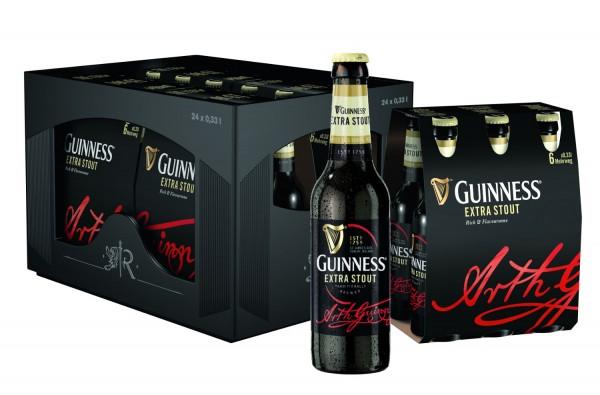 24 x Guinness extra explorador 0,33 litros de 4,1% vol. caso original