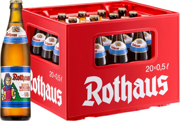 20 x Rothaus Hefeweizen sin alcohol 0,5 L
