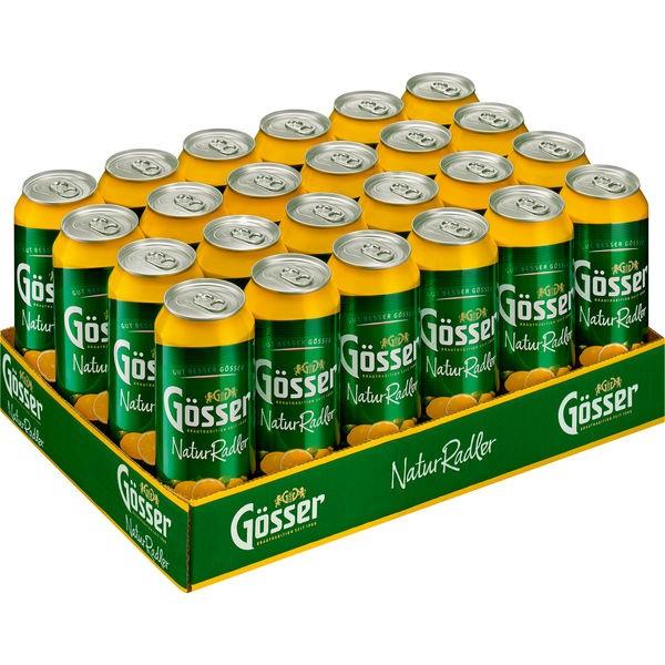 24 latas de 0,5 l Gösser Natur Radler Limón 2,0% vol. alc. DESECHABLE