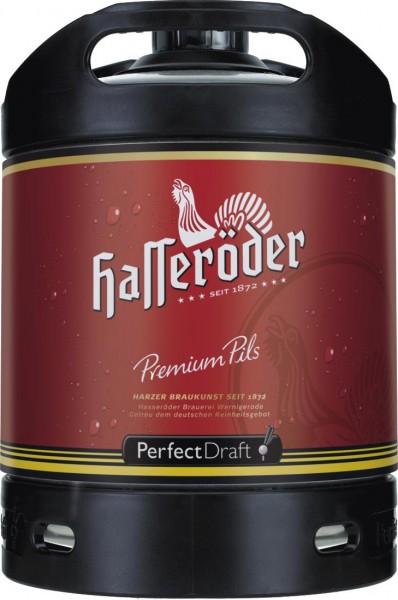 4x Hasseroeder cerveza Perfect Draft Prima Pils 6 litro barril 4,9% vol.