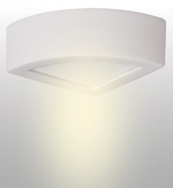 aplique de pared LAMPEX Atena 20 de cerámica blanco / vidrio de 10 x 20 cm