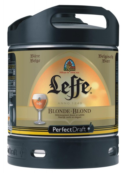 Leffe cerveza de Begica Perfect Draft 6 litros barril 6,6 % vol.