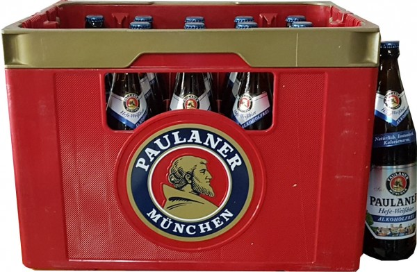 20 x Paulaner levadura de cerveza blanca, caso original 0,5 L libre de alcohol