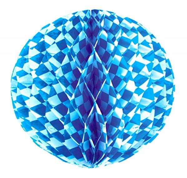 Bola de panal Ø 30 cm Azul bávaro retardante de llama