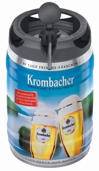 Krombacher Pils barriles frescas, 5 litros de 4,8% vol