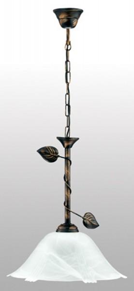 lámpara de techo de LAMPEX Bluszcz 1 de metal / vidrio de 77 x 36 cm