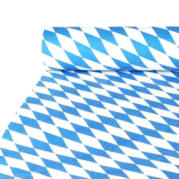 Mantel de papel con estampado de damasco 10 mx 1 m azul bávaro