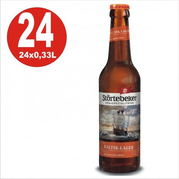 24 x Stoertebeker Baltik-Lager 0,33 Caja original 5,5% Vol. Alc