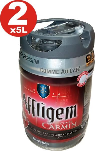 2 x Affligem Cuvee Carmín barril de 5 litros incl tambor. Espita 5,2% vol.