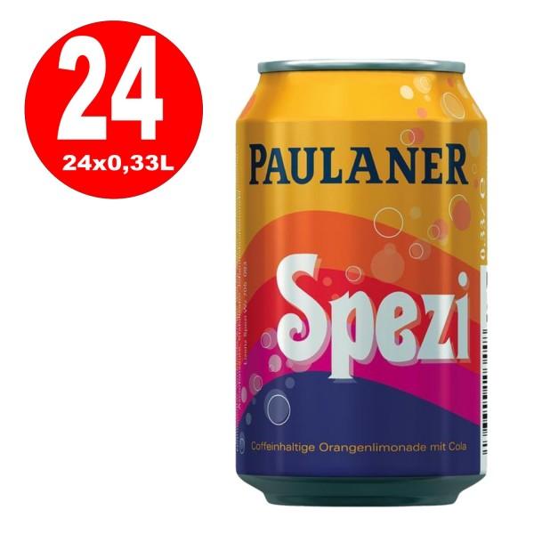 24 x Paulaner Spezi 0,33L lata desechable
