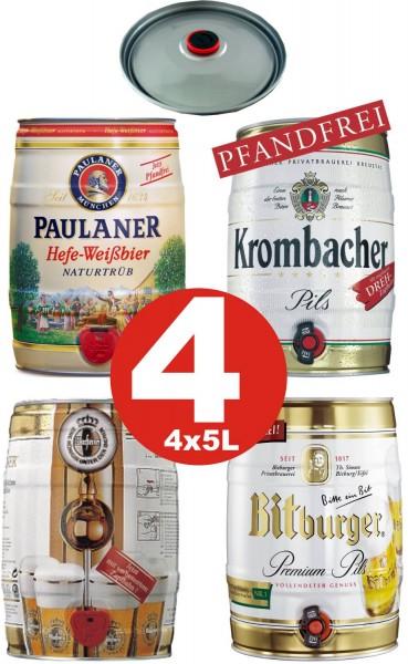 4 x barrilete de diferentes variedades de 5 litros de contenido de alcohol ver descripci.