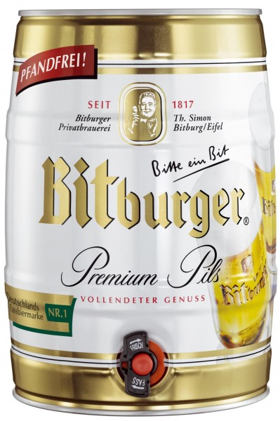 Bitburger Pils Prima 5 barril litro 4,8% vol