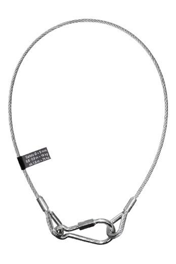 SAFETEX cuerda de seguridad de 80 cm Ø 3mm BGV-C1