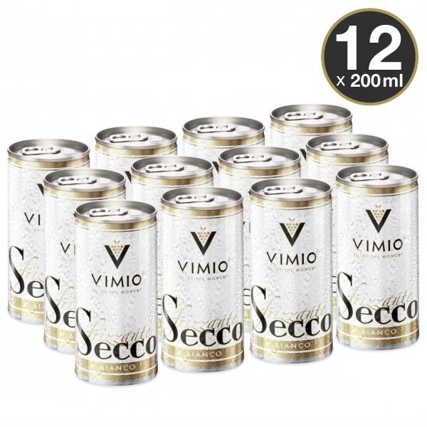 12 x Vimio Frizzante Secco bianco 10.5% vol 200 ml lata
