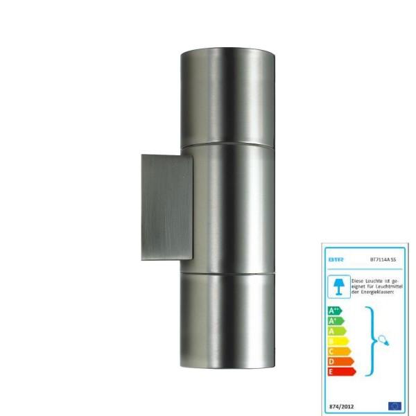 Mejor Lisboa Iluminación - BT7114B SS - lámpara de pared de acero inoxidable al aire libre