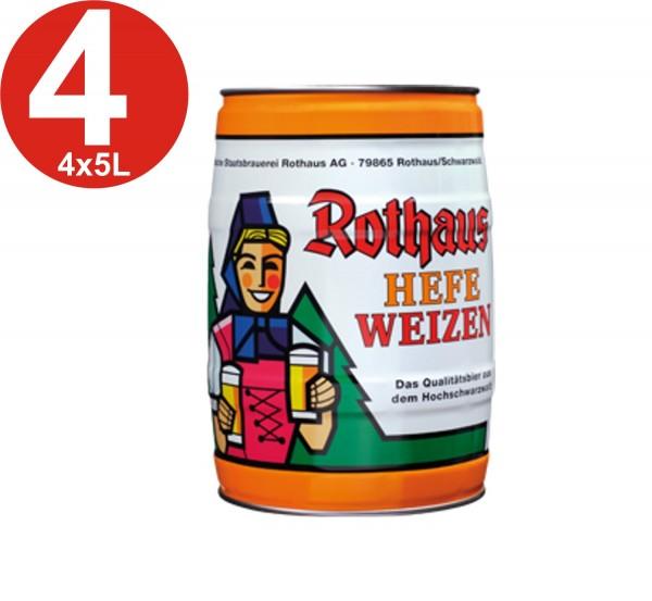 4x Rothaus Hefeweizen 5L barrilete de 5,4% vol