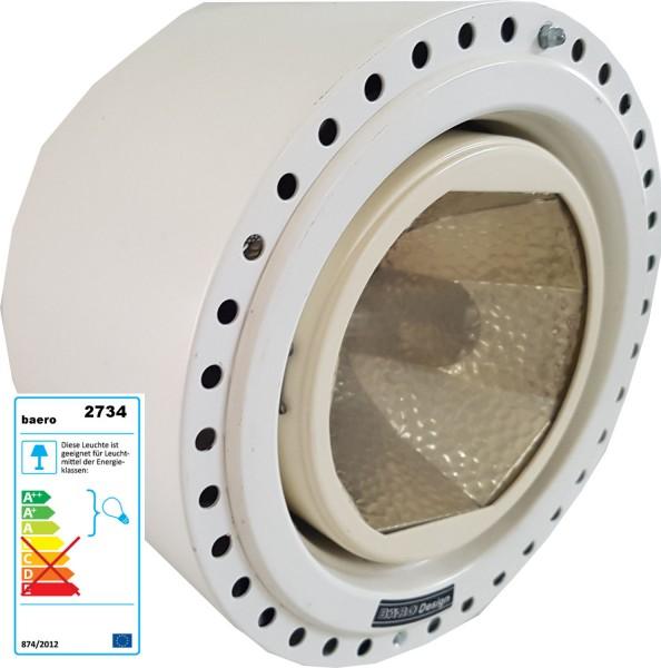Baero luz de techo redonda, blanca utilizada para almacenar equipos