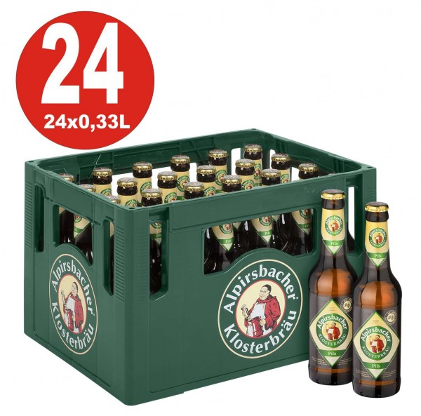 24 x Alpirsbacher Pils 0.33 Caja original 4.9% Vol. Alc