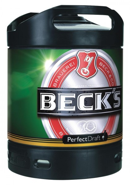 Becks Pils Perfect Draft cerveza de barril 6 litro 4,9% vol.