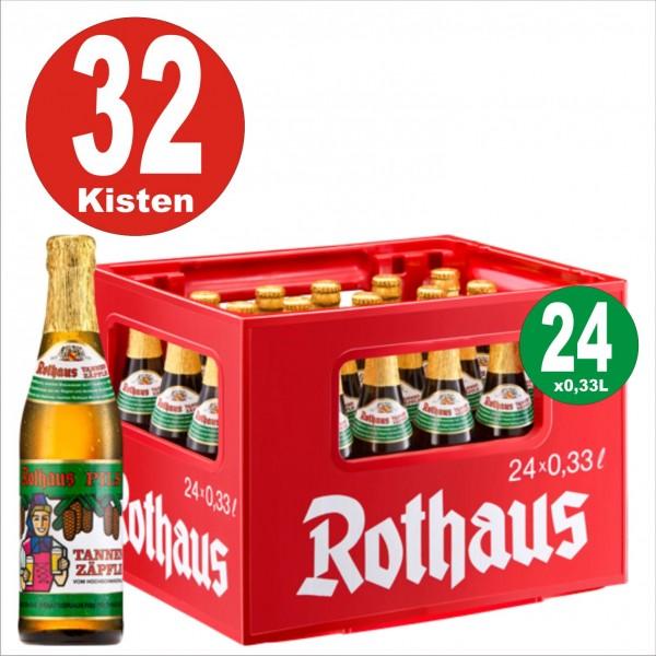 32 cajas = 24 x Rothaus Tannenzaepfle 0.33 L - 5,1% de alcohol Palet Euro con caja original